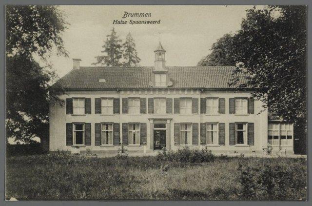 Ansichtkaart van voor de herinrichting van de tuin, waarschijnlijk ca 1910